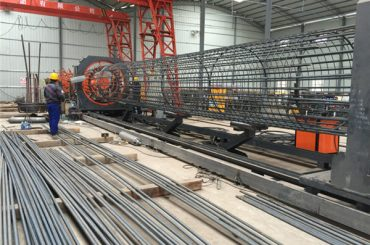 সেরা দাম welded তারের জাল রোল মেশিন, 500-1000mm খাঁচা সিম ঢালাই ব্যাস reinforcing